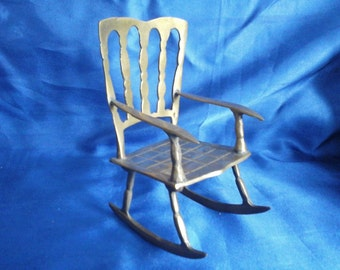 Brass Rocking Chair  Ideal for your favorite little Teddy