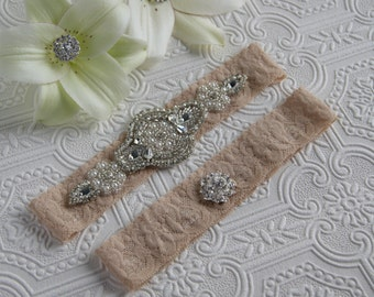 garter set, bridal garter set, something new, wedding, garter set, toss garter, bridal attire, blush garter, tan garter