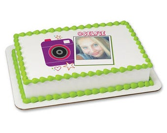 Selfie edible cake topper, Girl's Cake Decoration, Cake for Teens, Selfie cake, Selfie party, Selfie cupcake, Selfie cake topper, Photo cake