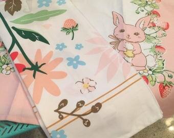 Bunnies & Cream Tea Towel Floral