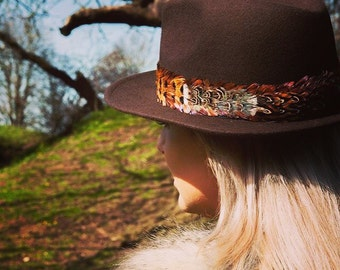 Bespoke Pheasant Feather Fedora