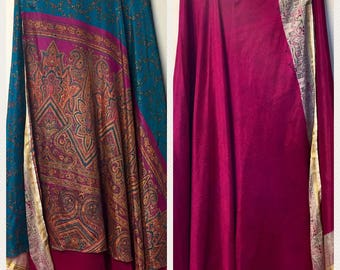 Reversable Sari Wrap Skirt