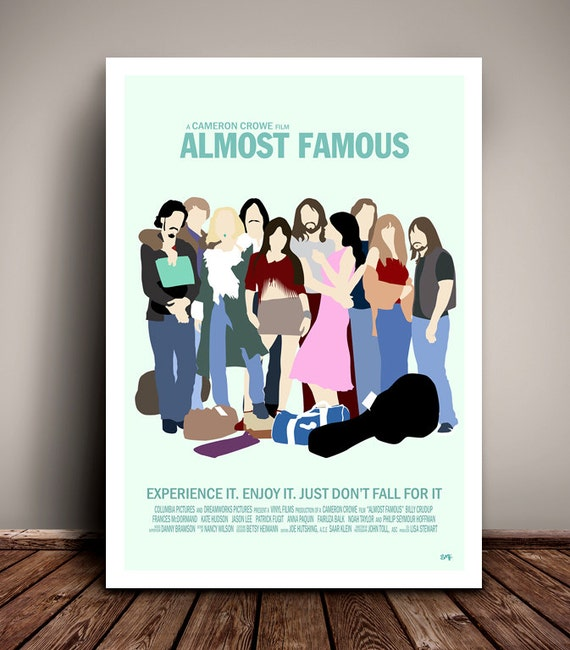 Almost Famous // Minimalist Movie Poster // Unique A4 / A3 Art Print