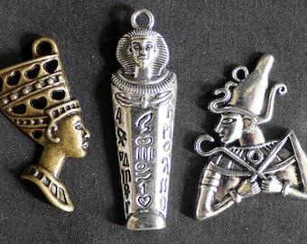Egyptian pendant etsy egyptian pendants charms osiris pharaoh sarcophagus ancient egypt nefertiti aloadofball Choice Image