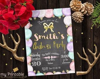 Christmas Party invite / Digital Printable Invitation / DIY Christmas Party
