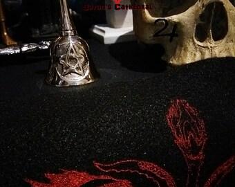 occult ritual pentagram altar bell