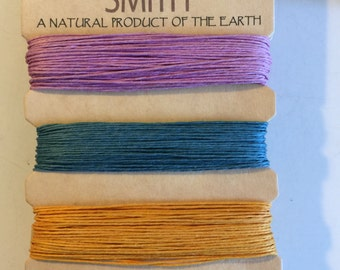 Natural Hemp Cord, 10lb test, Spring Shades