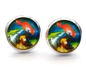 Disney The Fox And The Hound Todd And Copper Friendship Stud Earrings. 10mm. Available as cufflinks