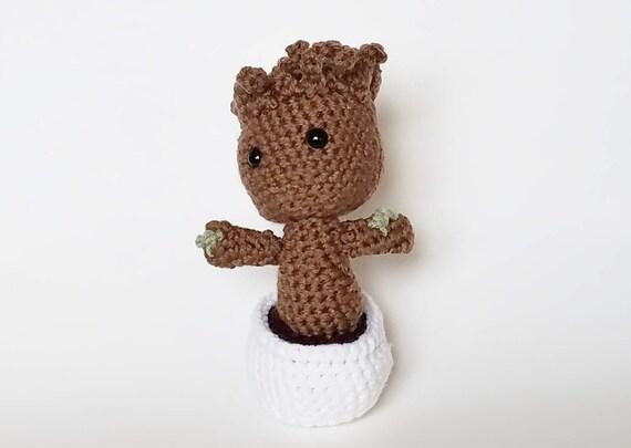 Amigurumi Patterns Groot : Items similar to amigurumi crochet baby groot on etsy