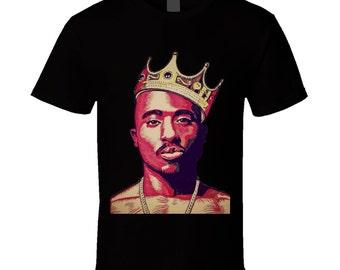 Tupac 2pac King Of Hip Hop Crown T-Shirt or Tank Top