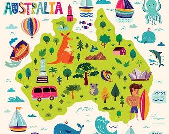 Digital CLIPART Australian symbols. Digital files