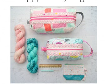 Zippy Hobby Bags by Sew Along Paper Pattern
