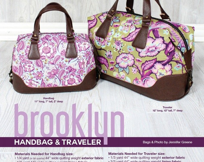 Brooklyn Handbag & Traveler - Swoon Patterns - Bag Pattern