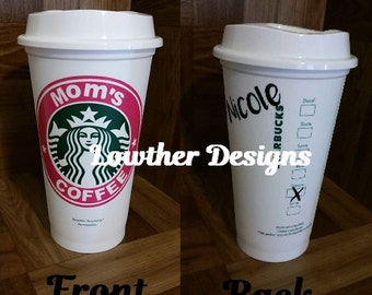 Personalized Starbucks Mug/Personalized Coffee Cup/Christmas gift/Travel Mug/Wedding gift/Gift for Mom/Teacher/Valentines Gift