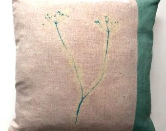 Lovely Medium sized Pink Linen Cushion