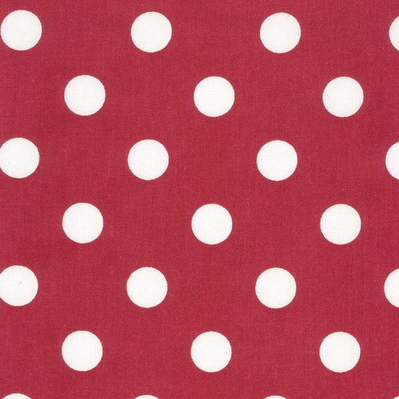 Au maison oilcloth dots giant red red dots coated cotton for Au maison oilcloth