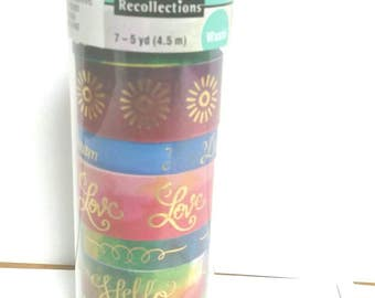 Recollections Boho Hello Dream Love Dots Colorful Washi Tape