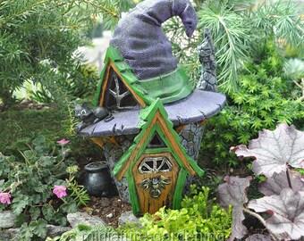 Witch Hat House for Miniature Garden, Fairy Garden