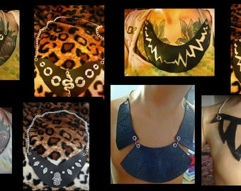 Necklace Handmade various models Recycled Bicycle Inner Tube