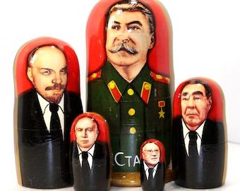 Nesting doll #503 J. Stalin