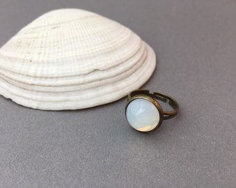 Bronze bague opale