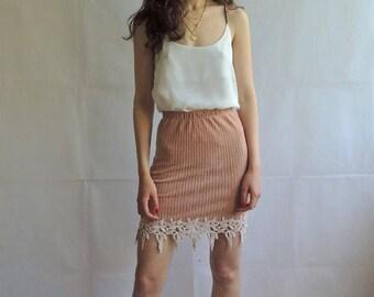 Vintage Velvet Ribbed Stretchy Mini Skirt