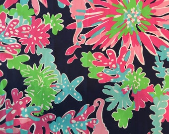 Cotton Poplin TRIPPIN and SIPPIN Lilly Pulitzer Fabric 18x18 or 1 yard sipping tripping