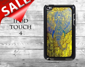 Amazing elephant art  - SALE iPod Touch 4G case - Ornamental Indian elephant phone iPod Touch case,  iPod cover