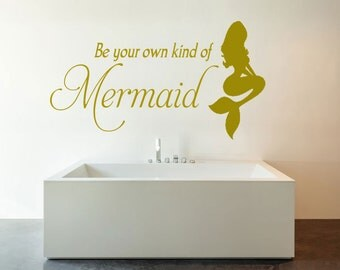 Be your own kind of mermaid SVG download file, silhouette, cricut