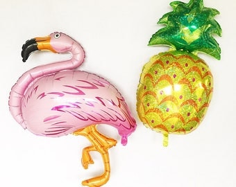 Flamingo Balloon Pineapple Balloon Flamingo Pineapple Party Lets Flamingle Tropical Bachelorette Luau Palm Springs Summer Party Pineapples