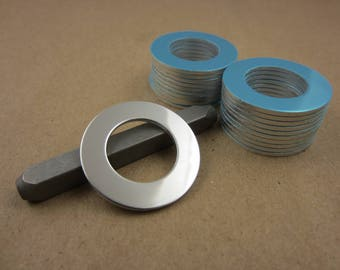 """1 1/4"""" Aluminum Stamping Washers, 3/4"""" ID, 14 Ga Thick, 20 Pcs, PUNCHED"""