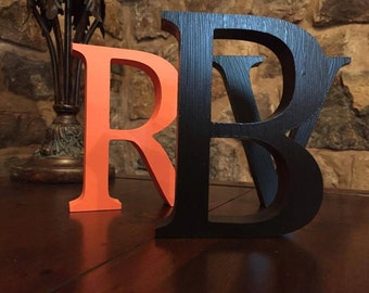 4 Pack - Free-standing Black Wooden Letters - 13cm Large Letters - Select Your Own Letters, Multipack Offer Black Letters