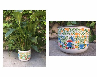 Vintage Enamel Kobe Pot Vintage Enamelware Vintage Kobe Enamel Pot Vintage Scandinavian Pot Vinage Scandinavian Enamel Kitchenware
