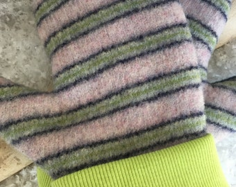 Mittens Felted Wool Stripe Sweater