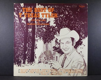 The Best Of T. Texas Tyler Vintage Vinyl LP 16 Top Gospel Hymns / Country Gospel / Deck Of Cards / Come And Dine / Farther Along / Redeemed