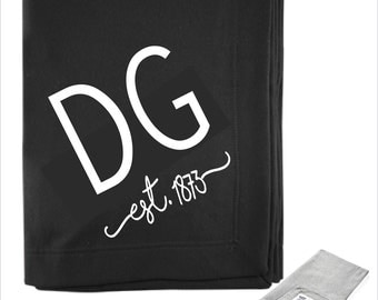 Delta Gamma // DG //Sorority Sweatshirt Fleece Blanket// Bid Day Gift // Big Little Gift // Greek & Sorority Gifts // Choose Color