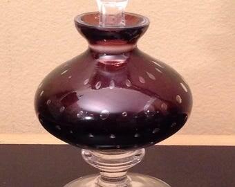 MURANO perfumer/bottle perfume/blown glass bubble/Bullicante purple blown glass Blown Glass