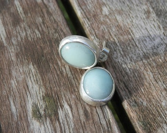 Earrings Silver 925 acute marine blue Chic Elegant