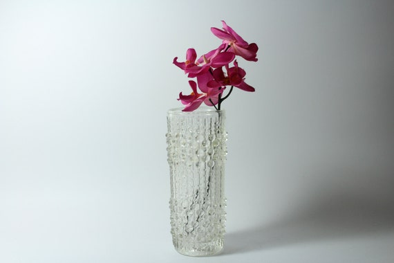 glas vase aus der 50er jahre glas mit noppen west germany. Black Bedroom Furniture Sets. Home Design Ideas