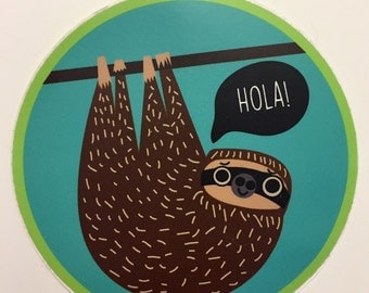 Hola Sloth Sticker