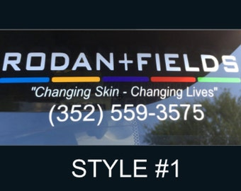 Rodan and Fields Car Decal, R + F Car Decal, Rodan & Fields, RF Decal, R+F Decal, R+F   Shipping to USA, Canada and Australia!