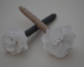 Rustic wedding guest book pen, Rustic pen, Guest book pen, Twine pen, Linen flower pen, Barn wedding ideas, Paper flower.