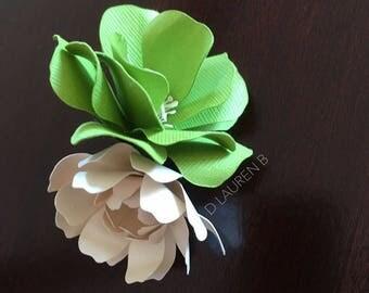 Paper Flower Hair Barette