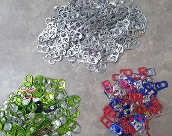 550 Soda Can Tabs, Soda Pop Can Pull Tabs, Beer Can Pull Tabs, Monster & RedBull Aluminum Can Pull Tabs, Crafts, Jewelry, Recyclable, DIY