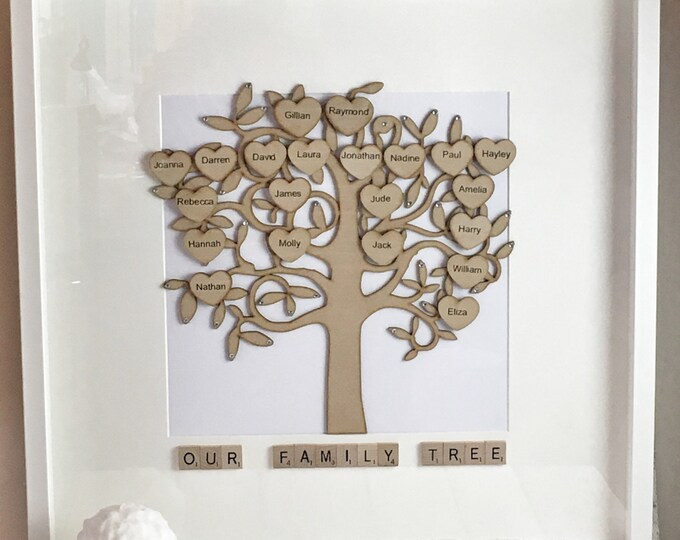 Large personalised family tree
