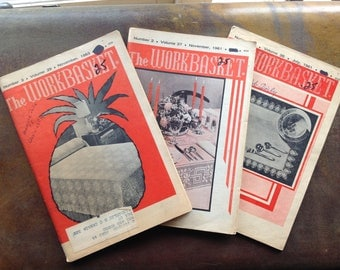 Vintage 1960's 'the Workbasket' magazines
