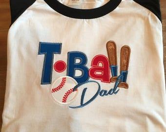 T-ball Dad baseball shirt