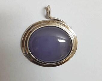 Purple Chalcedony Pendant