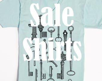 SALE - V-neck T shirts - Discount screen printed shirts - Slothwing Tees