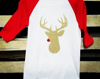 Toddler Reindeer baseball tshirt
